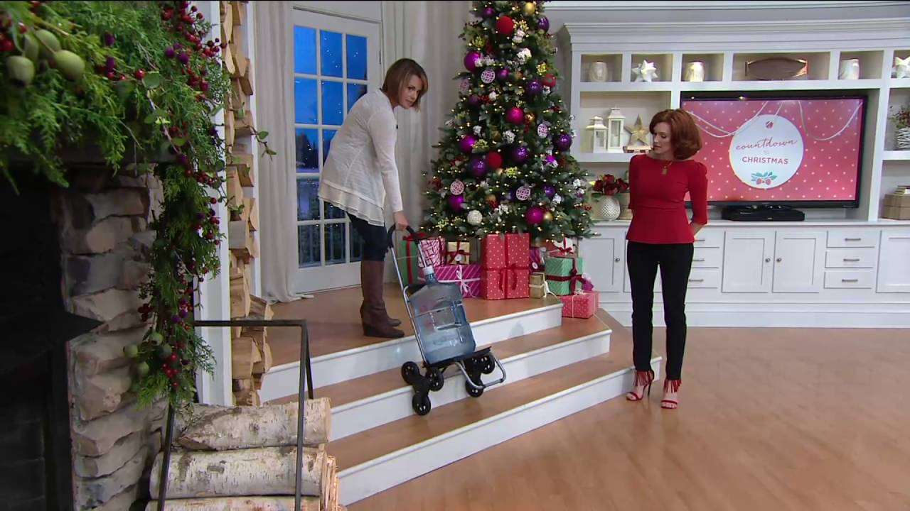 Trolley Dolly 2-in-1 Folding Cart & Dolly with Stair Climbing Wheels on QVC