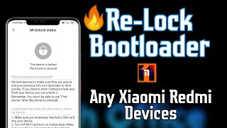 REMOVE TWRP & LOCK BOOTLOADER On Xiaomi Phones.