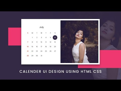 Calendar UI Design Using Html & CSS