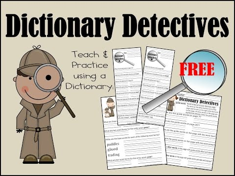 Dictionary Detectives Worksheets
