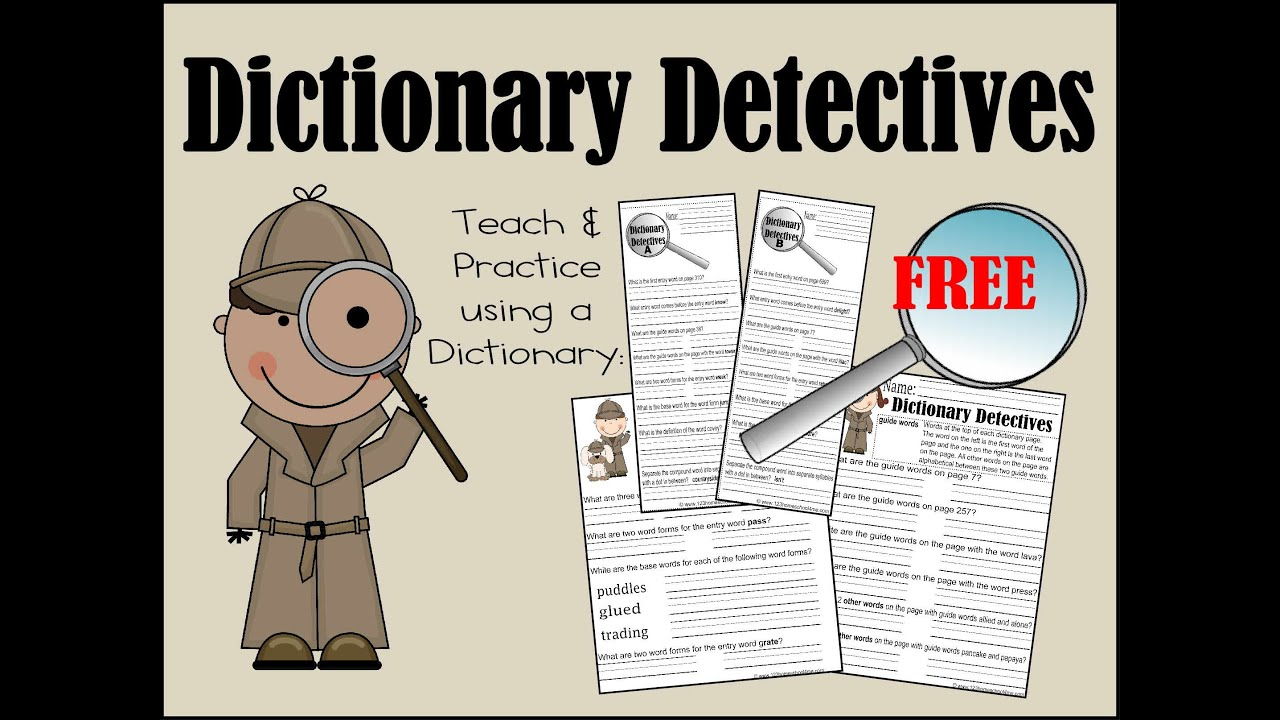 Dictionary Detectives Worksheets  Youtube