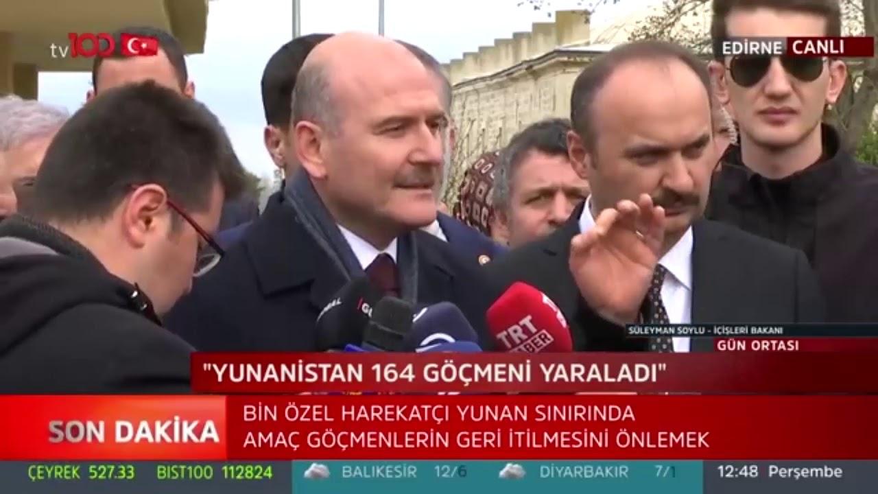 Bakan Süleyman Soylu'dan gazeteciye tepki: Yunan tarafına hizmet ediyorsun