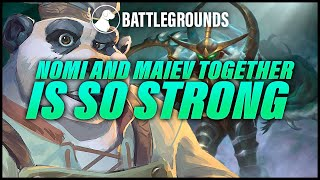 Nomi and Maiev Together are So Strong | Dogdog Hearthstone Battlegrounds