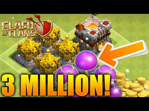 Clash of Clans - How To Get 3 Million Resources An Hour! (CoC Best Gold/Elixir Farming Strategy!)