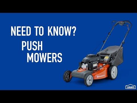 Need to Know? | Push Mowers