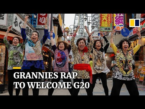 Japanese granny-group releases rap song to welcome G20 to Osaka from YouTube · Duration:  1 minutes 28 seconds