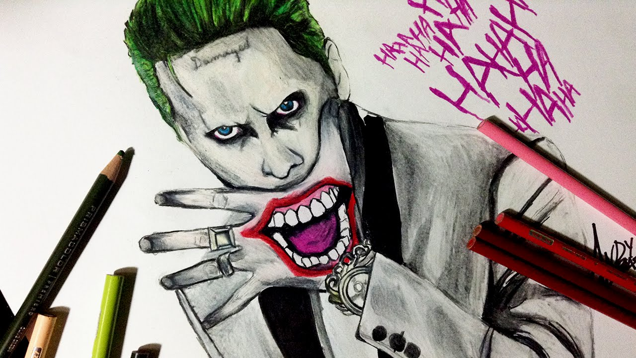 Speed Drawing: Jared Leto Joker From Suicide Squad