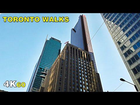 "Toronto Morning ""Rush Hour"" Bay Street Walk (Narrated) on Aug 31, 2020 [4K]"