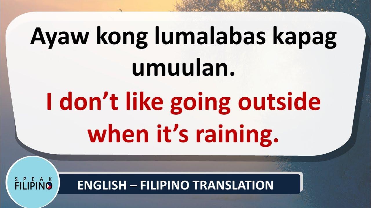 "Useful Filipino Phrases with ""KAPAG"" (WHEN) | English-Tagalog"