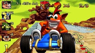 ctr crash team racing hot air remix in cnk crash nitro kart gba