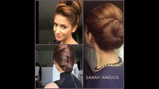 How to:Messy Bun Troom Troom SR ||Sarah Angius Fashionable Hair Styles Collections||