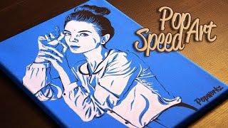 Смотреть видео поп арт портрет