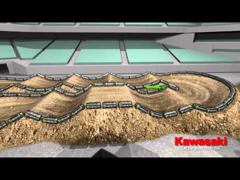 Supercross LIVE 2014 – Phoenix 11114 – Monster Energy Supercross Animated Track Map