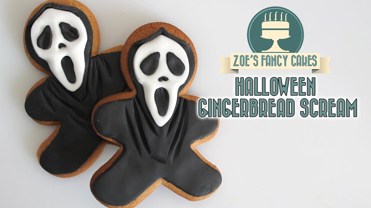 scream gingerbread men cookies for halloween youtube - Halloween Gingerbread Cookies