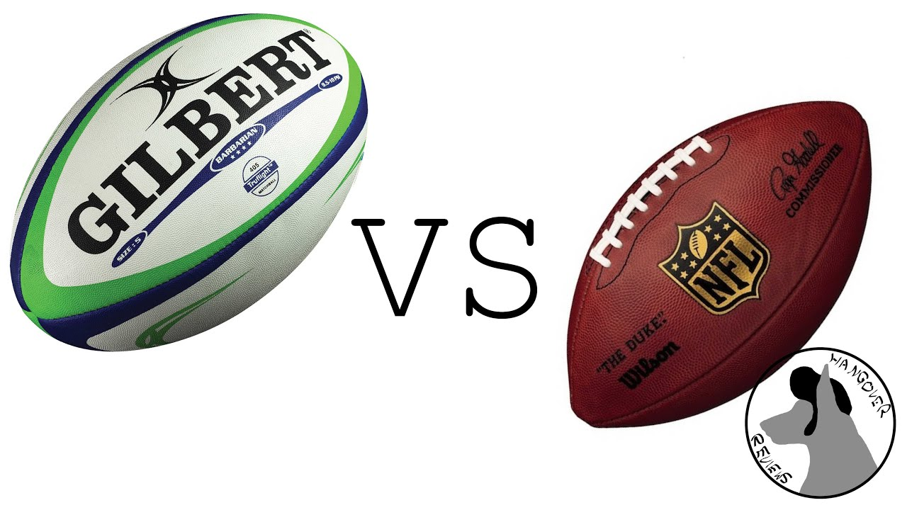 football vs rugby Obviously put together by an american, all hits in american football and mostly running in rugby, show the tackles equally and ppl will simply see rugby is the game.