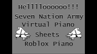 Seven Nation Army (Short | Advanced) - Virtual/Roblox Piano (Just Sheets)