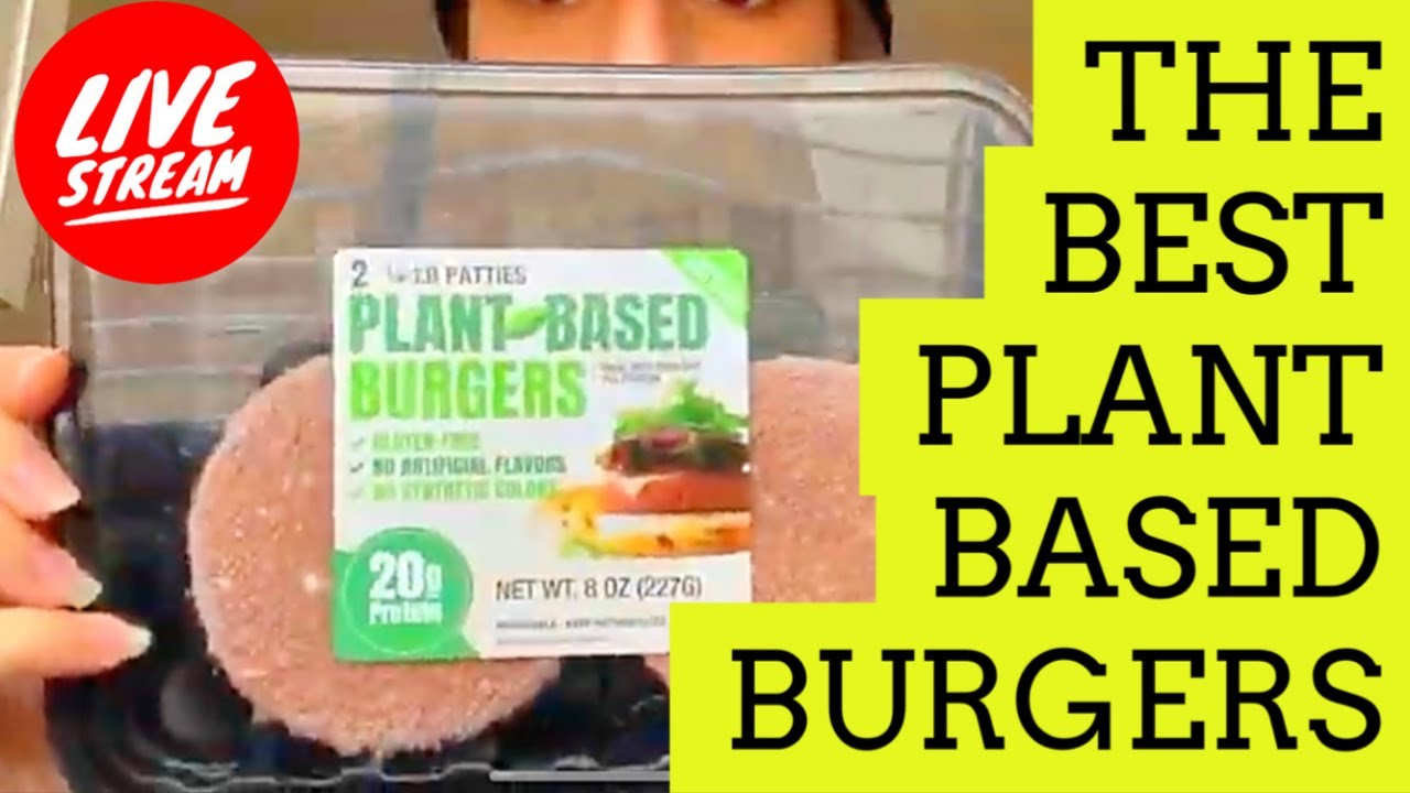 The BEST plant based burgers EVER - Live Cooking