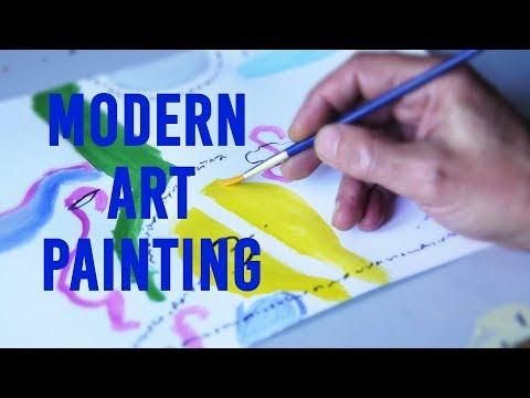 Modern Art Painting // The Beginning