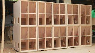 ทีเด็ดๆ!!! ประกอบตู้ลำโพงซับเบส 18 นิ้ว ตัวแรงให้ลูกค้า