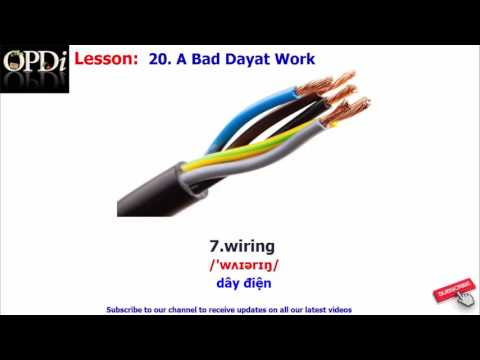 Oxford dictionary - 20. A Bad Day at Work - learn English vocabulary with picture
