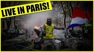 LIVE! In Paris France On The Ground With The Yellow Vests