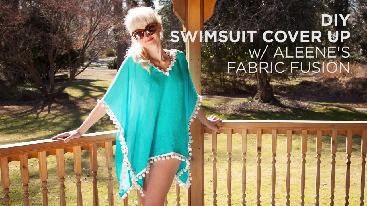 b9a2077d53ce93 DIY Swimsuit Cover Up with Pom Poms - YouTube
