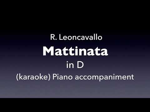 Mattinata   R. Leoncavallo   in D    karaoke