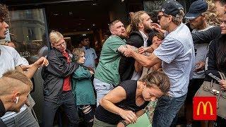 Woke venstreorienterede blokerer ulovligt adgangen til McDonald's - Politiet gør intet