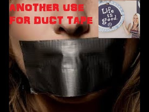 Another Use For Duct Tape! YOU WONT BELIEVE!!!!!!!!!!!