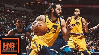 Minnesota Timberwolves vs Utah Jazz Full Game Highlights / April 1 / 2017-18 NBA Season