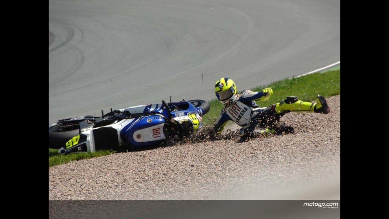 MotoGP Crash Valentino Rossi Falls at Brno 2014 - YouTube