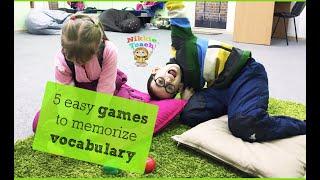 5 лёгких игр на запоминание слов | Английский для детей