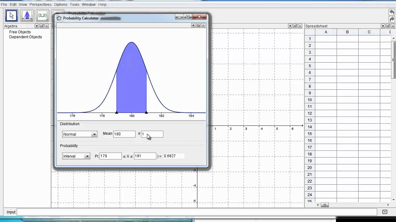 Using Geogebra as a Distribution Calculator