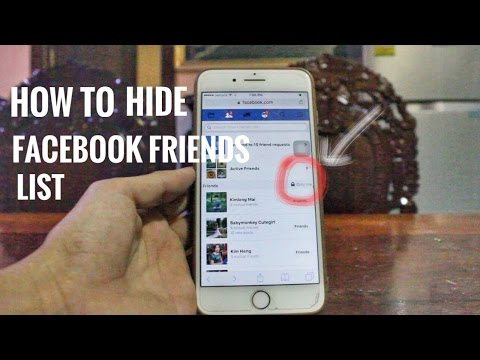 How to hide facebook friends on mobile easy 2017