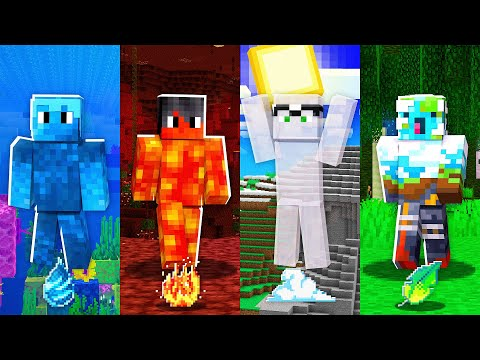 Minecraft MAS temos RAÇAS ELEMENTAIS! #20 💧🔥🌬🌎