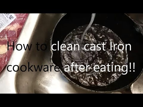 How to clean cast iron after eating?