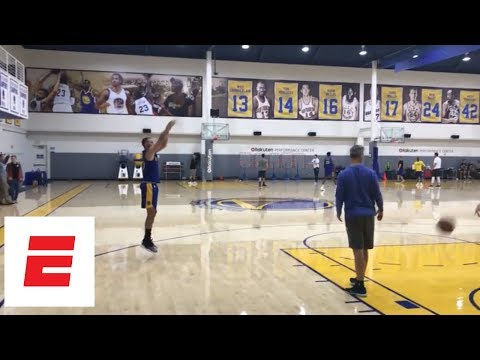 Stephen Curry gets up shots in practice ahead of Warriors-Pelicans second-round series | ESPN