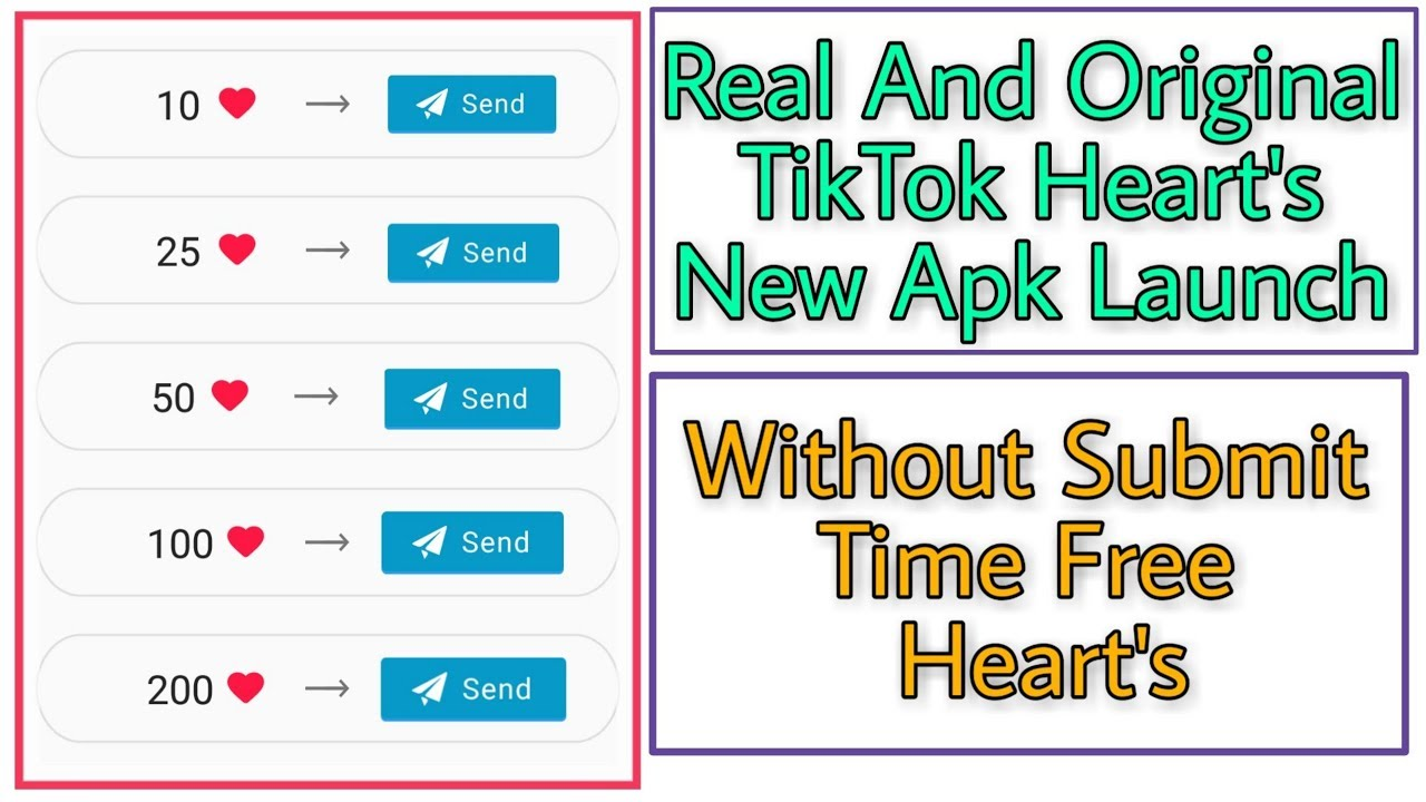 How To Increase TikTok Heart's 2019 || Get 10k TikTok Hearts Free Every Day  2019