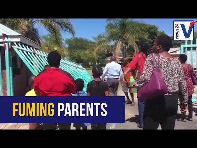 WATCH: Parents storm Limpopo education MEC's office