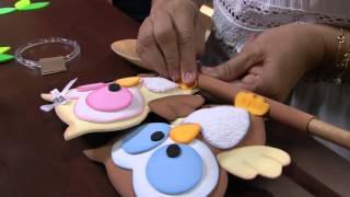 Corujinha cozinheira em E.V.A ou feltro – Rosemary Ansante PT2
