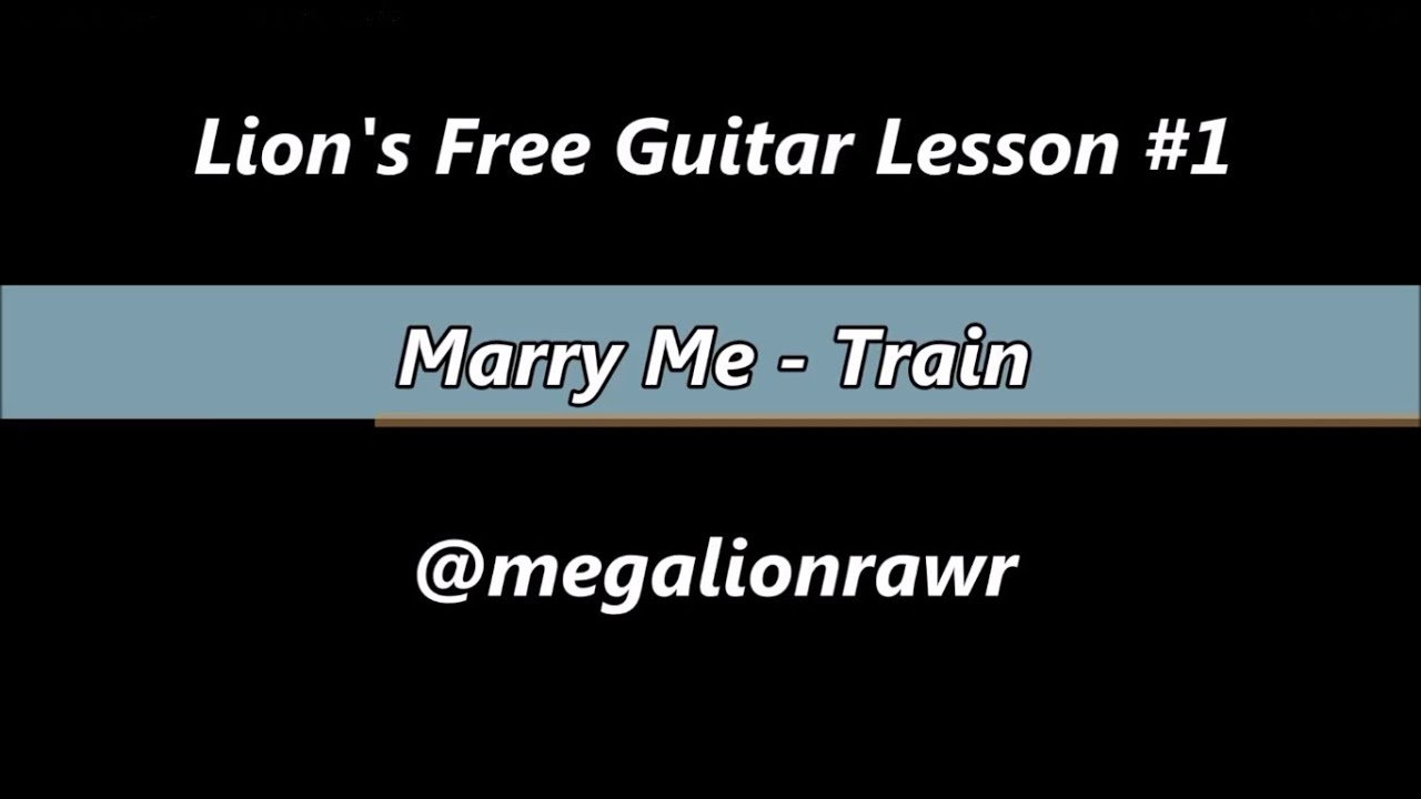 How To Play Marry Me Train Tutorialtab Guitar Lesson Hd Youtube