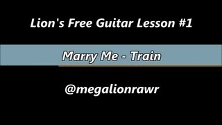 How to play Marry Me Train Tutorial/Tab & Guitar Lesson (HD)