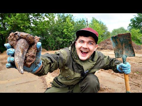 Отправились на раскопки и нашли останки древних динозавров!