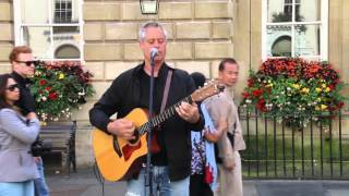 Lady in Red - To Love Somebody  (covers) - Michael Hennessy - Busking - Bath - UK