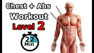 Chest+Abs Workout Level 2| KIDA Workout