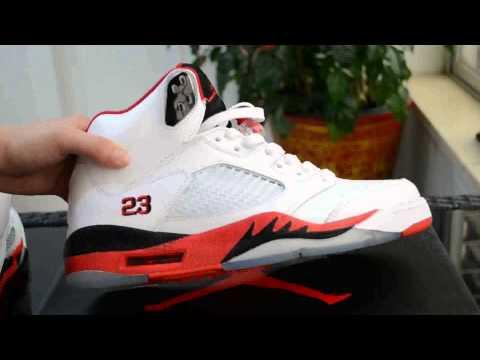 Perfect Jordan 5 Fire Red /Credit Card/ -Repsoon.com
