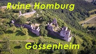 Ruine Homburg bei Gössenheim aus der Luft