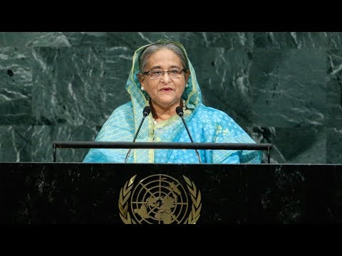 Bangladesh's PM at UN urges 'safe zones' for Myanmar's Rohingya