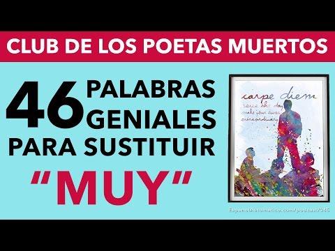 """045- Aprende español: 46 palabras geniales para sustituir la palabra """"MUY"""" [video podcast]"""