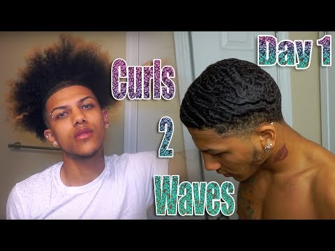 My Curls To Waves Journey (Day 1)